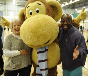 Rowena-Dean-Olli-the-monkey-and-Dave-Benson-Phillips